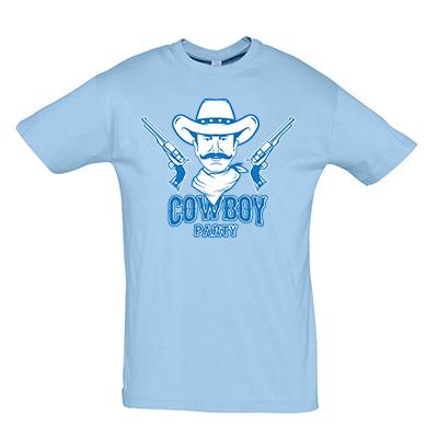 Cowboy párty modrá