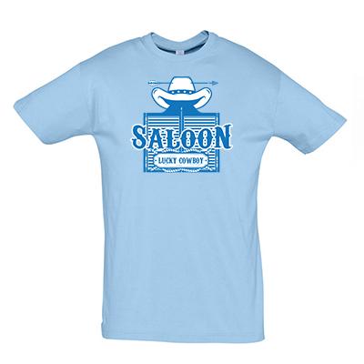 Saloon modrá