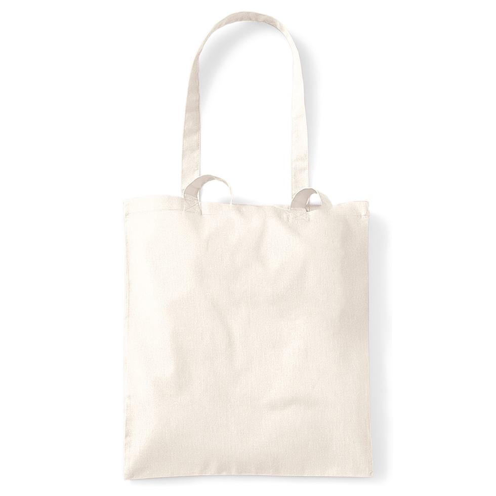 Plátěná taška s dlouhým uchem