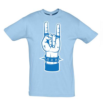 Rock hand modrá