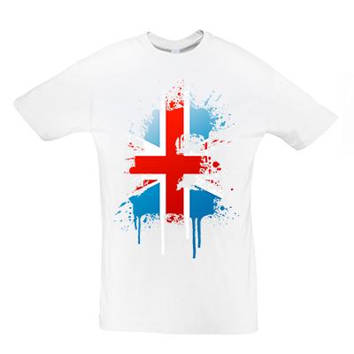 Británie vlajka splash