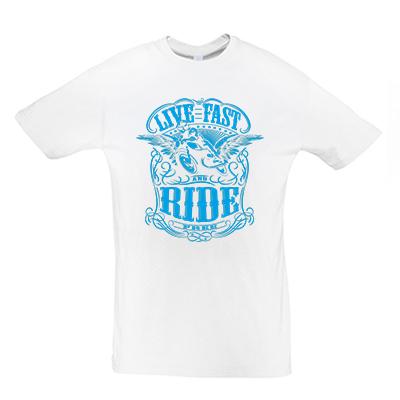 Live fast modrá